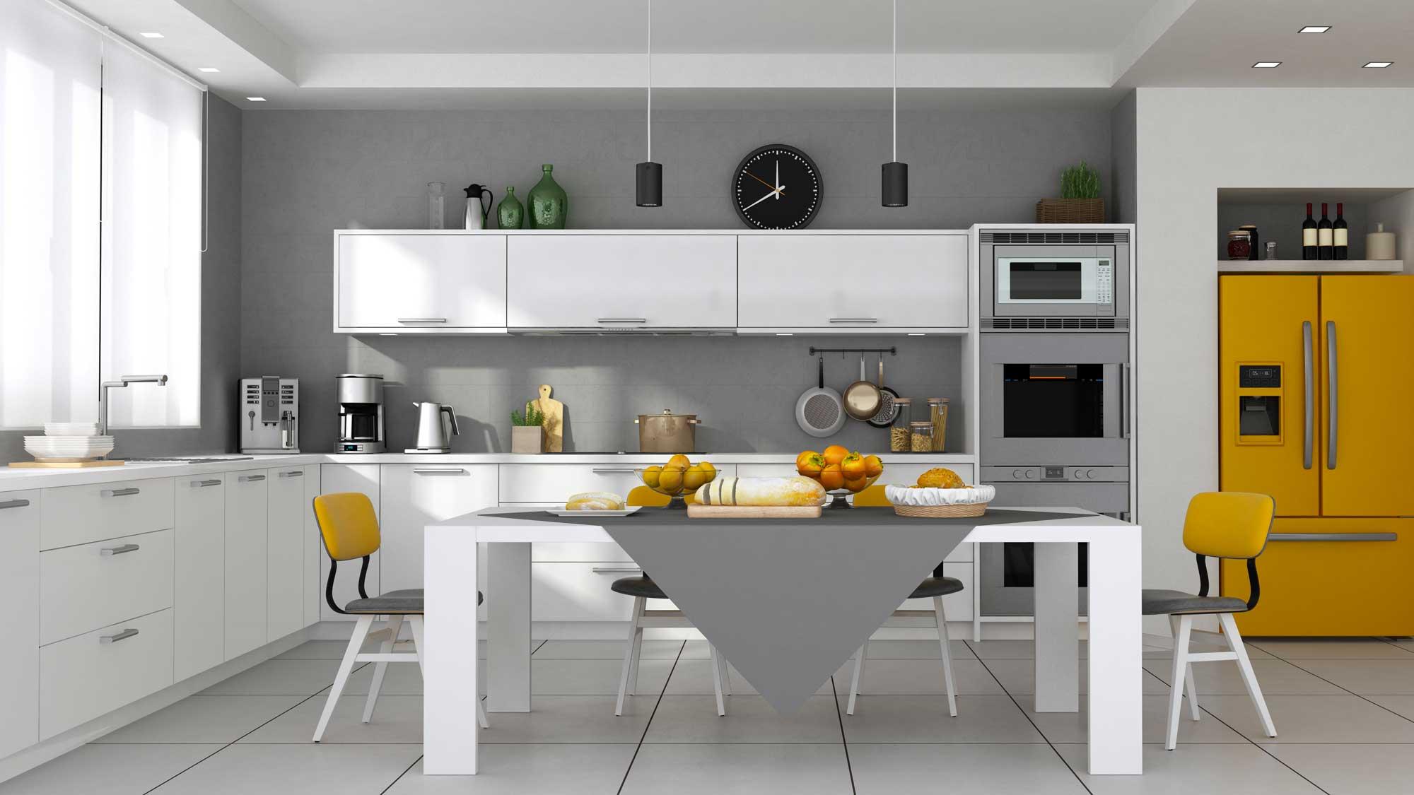 progetto cucina 3d rendering