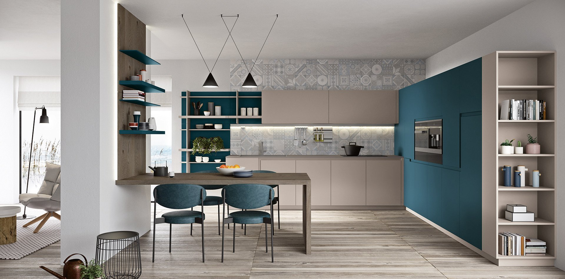 Live: Lacquered kitchen doors