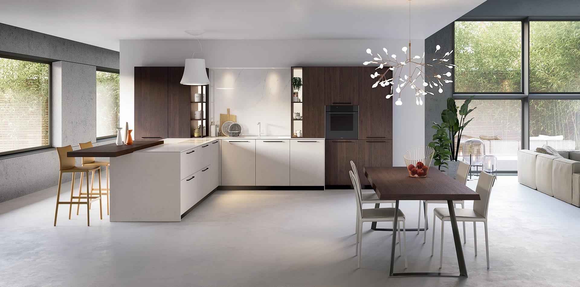 Cucina in legno moderna Bior Cucine