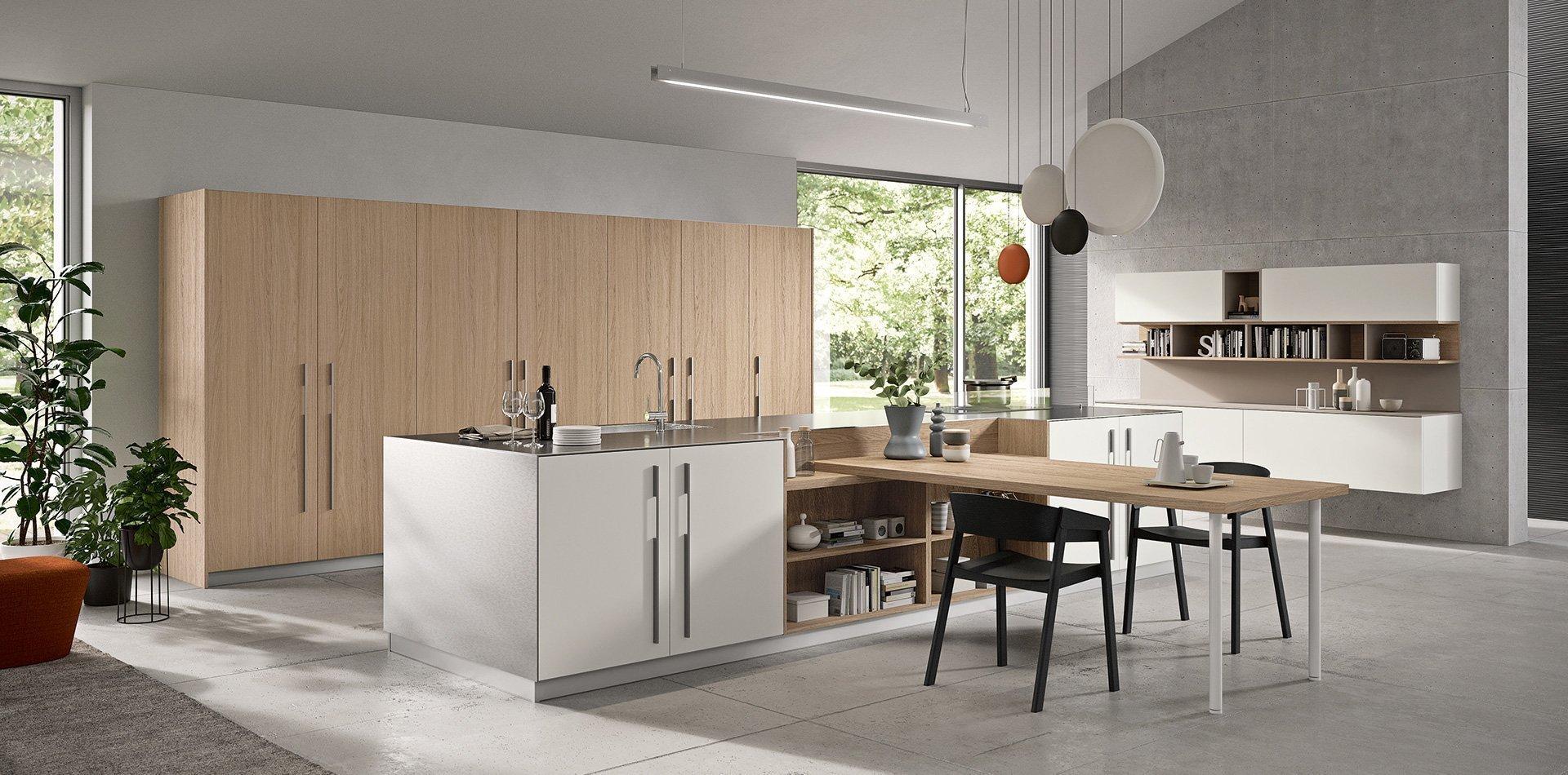Cucina in legno naturale Bior Cucine